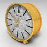欧式金色钟表,闹钟3D模型