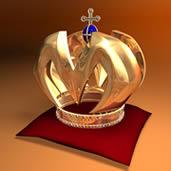 带钻石的金皇冠艺术品3D模型