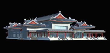 八宝山,古建,古代建筑,寺庙3D模型