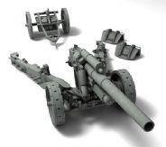 可拆卸大炮,榴弹炮3D模型