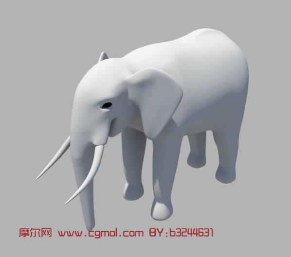 大象maya模型,哺乳动物