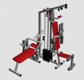 3D健身运动器械模型