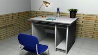 课桌椅,maya场景模型