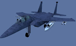 maya战斗机模型