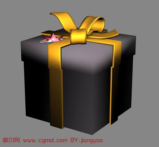 精美礼物盒,礼品盒3D模型