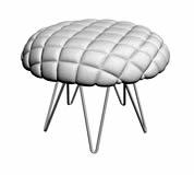 棉质沙发凳3D模型