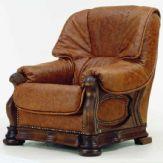 复古深色真皮单人沙发3D模型