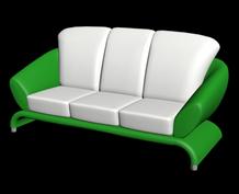 简易3人沙发3D模型