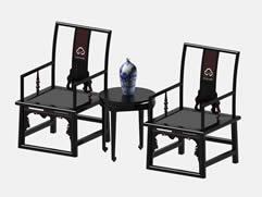 中式红木家具太师椅,3D椅子模型