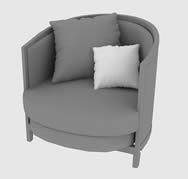 木制沙发椅3D模型