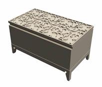 木制雕花柜子3D模型