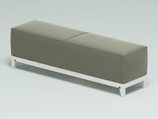 皮质床榻,床脚榻3D模型