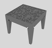 木制雕花桌子,茶几3D模型