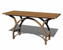 木艺个性桌子3D模型
