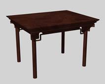 中式四仙桌实木家具3D模型