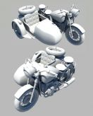 设?#21697;?#24120;精致的双人摩托,maya模型