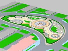 悠闲公园,3D场景模型