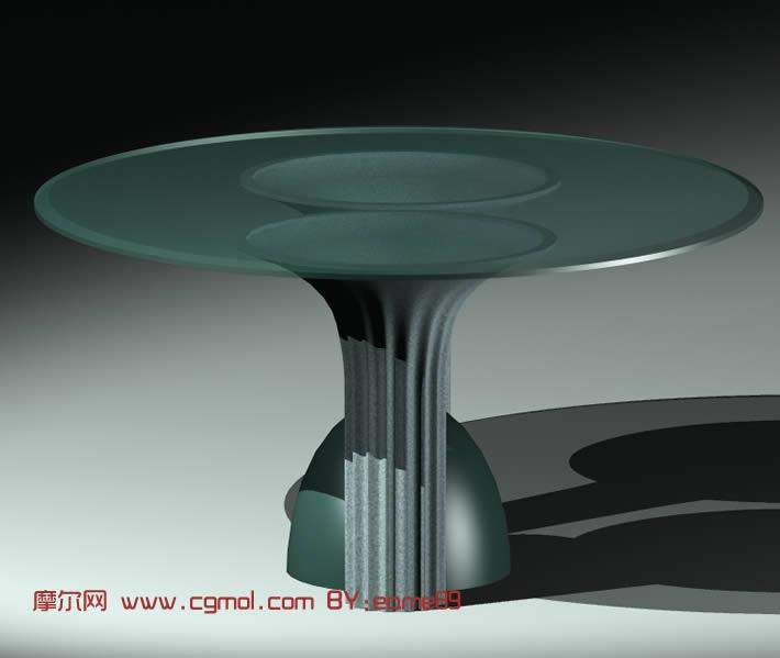 玻璃桌3D模型