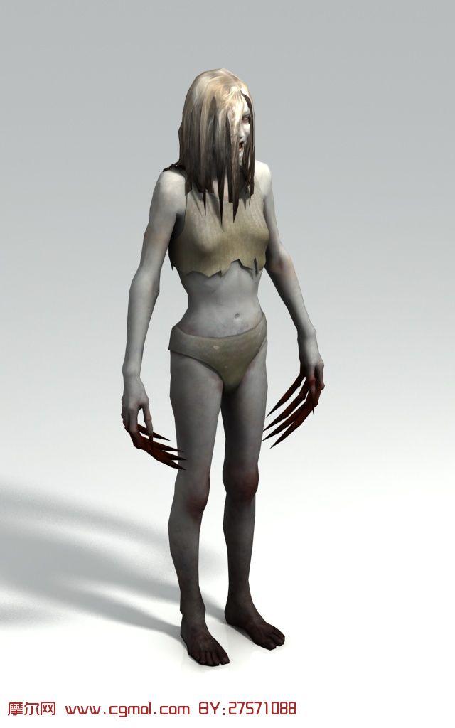 游戏《求生之路》中的丧尸,僵尸3D模型