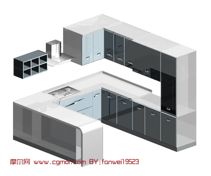 橱柜3d模型下载,其他,室内模型