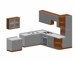 橱柜,厨房3d模型