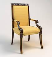 精品欧式金边椅子3d模型
