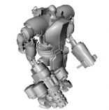 重甲战士,机器人C4D模型