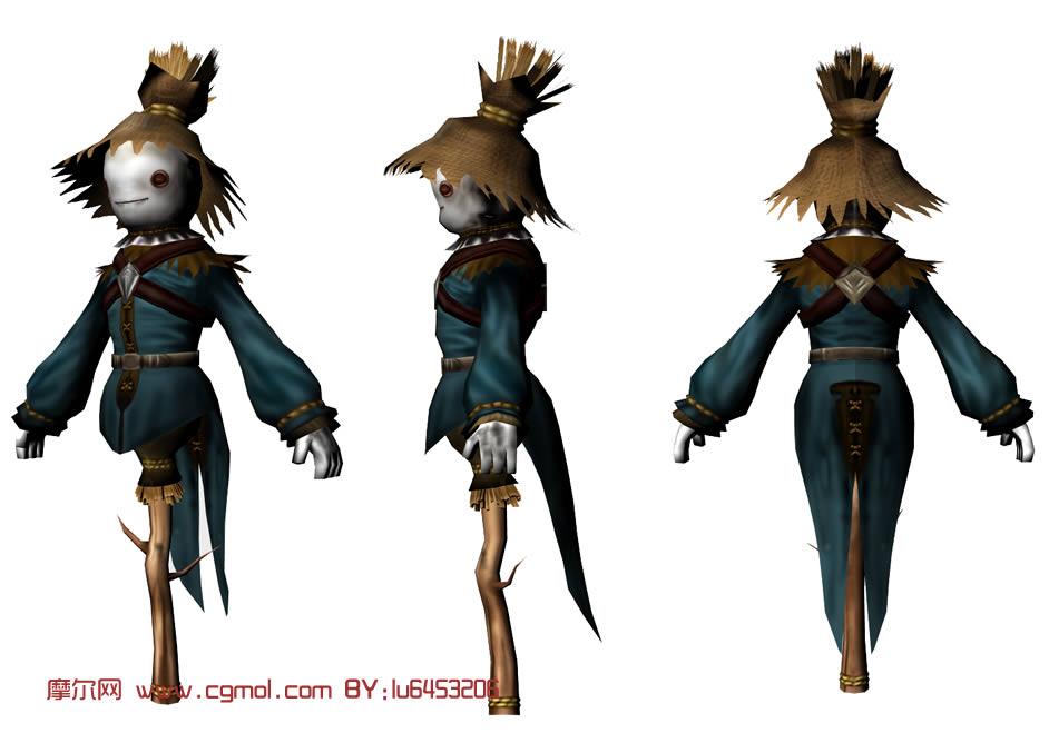 稻草人maya模型,其他,场景模型,3d模型免费下载 摩尔网 高清图片
