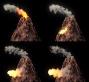 火山 maya模型