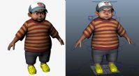 电影级的卡通小孩maya模型(贴图齐全,已绑定)