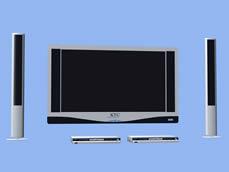 KTC液晶电视,音响,DVD,3d家庭影院模型