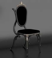 用餐椅子,欧式家具3D模型