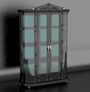 欧式展示柜,柜子,3D家具模型