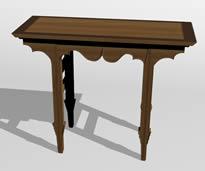 中式长桌3D模型