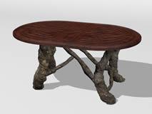 木雕工艺茶几,凳子3D模型