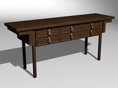 中式桌子3D模型