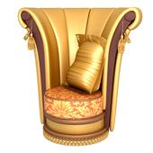 金色高靠背沙发椅3D模型
