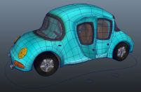 卡通汽车maya模型
