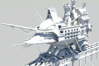 一艘科幻船只maya模型