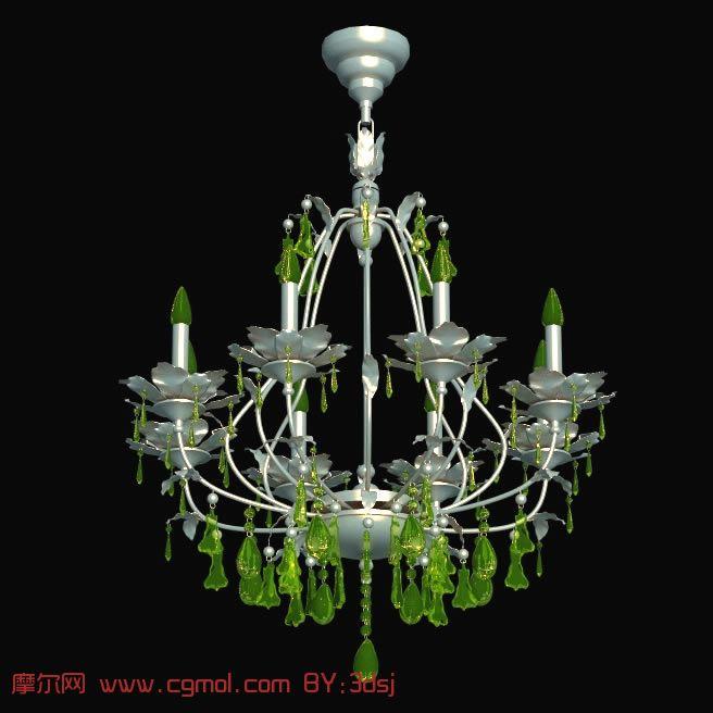 非常漂亮的欧式花型吊灯3d模型