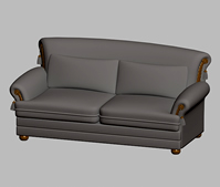长条双人沙发3D模型