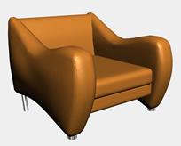 舒适单人沙发3D模型