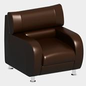 皮质单人沙发3D模型