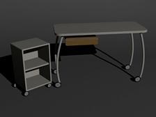 现代柜子,桌子组合3D模型