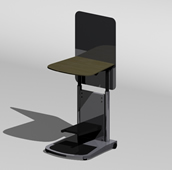 双层柜架,物架3D模型