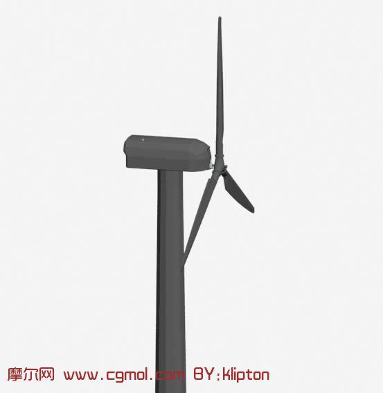 简易风力发电机3D模型