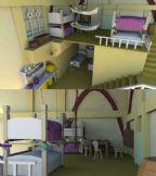 房子,居室内部效果,maya场景模型