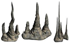 三款假山设计3D模型(独立的max文件)