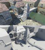 小河边建筑场景maya模型