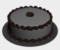 巧克力蛋糕的3D模型